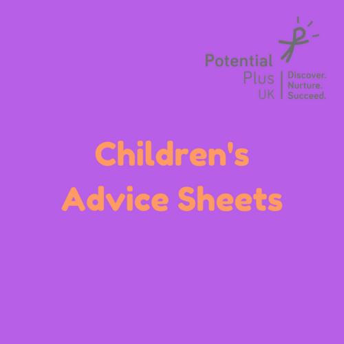 Children's Advice Sheets