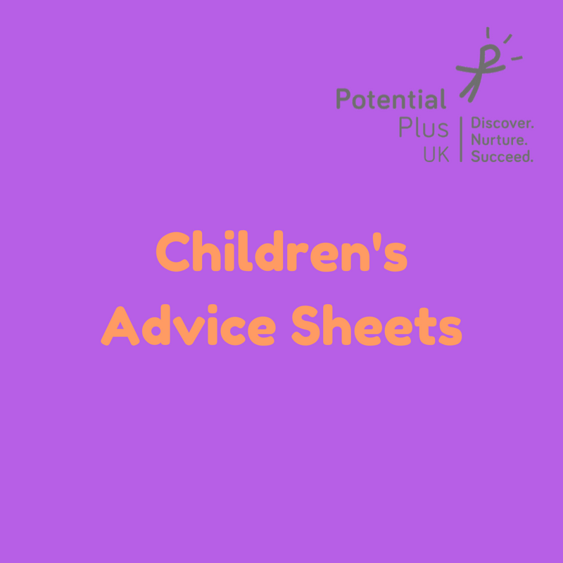 Children's Advice Sheets