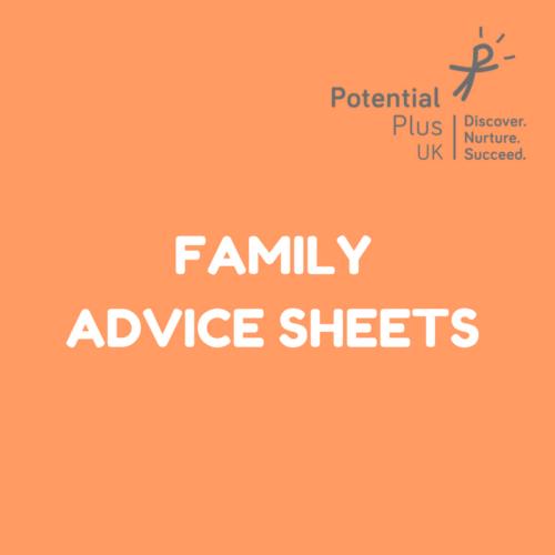 Family Advice Sheets