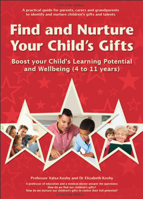 Find and Nurture Your Child's gifts by Valsa and Elizabeth Koshy