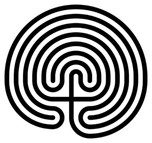 A classical seven ring designed Cretan labyrinth