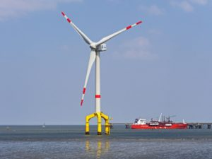 Pinwheel Labyrinth in the form of an offshore wind turbine