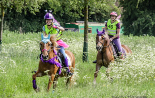 Go Bright Ride 2018 - decorated horses and riders in motion with permission of IndiePics Photography