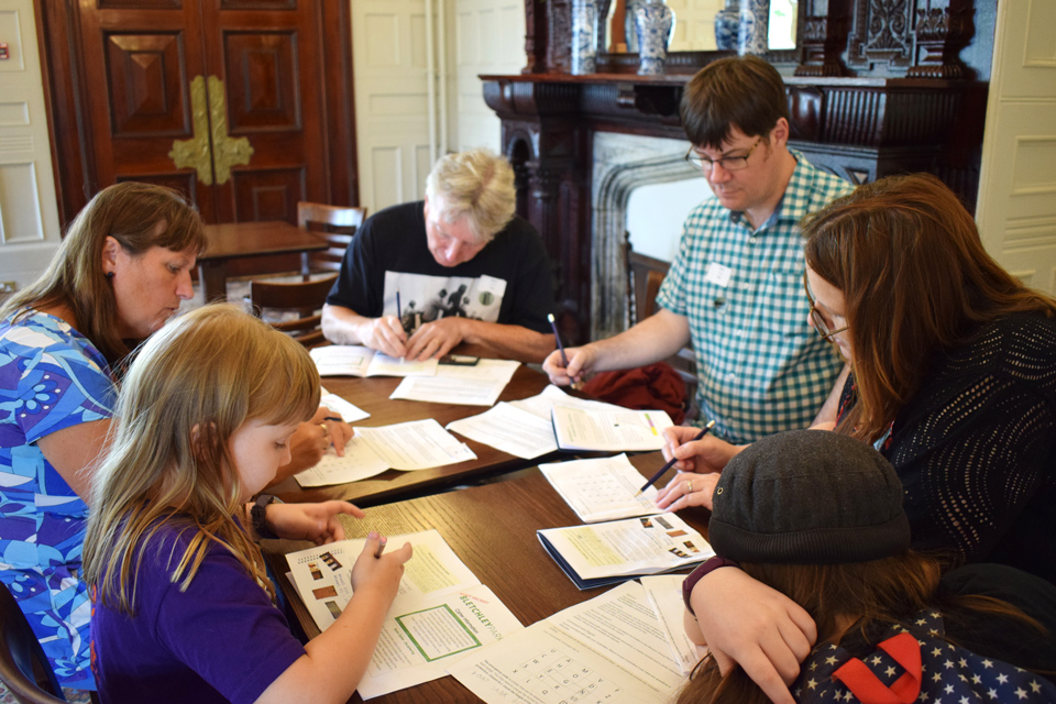 Family team gathered to crack the codes at Bletchley Park