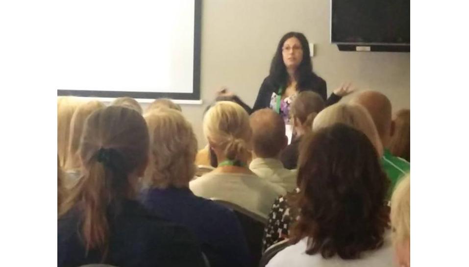 Andrea Anguera presenting a workshop on DME at ECHA, Dublin 2018