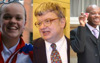 Ellie Simmonds, Kim Peek and Stephen Wiltshire