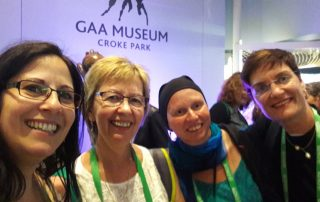 Julie Taplin and Andrea Anguera meeting German Colleagues at ECHA Dublin 2018