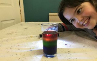 Miranda and her finished Radiant Rainbow experiment
