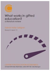 What Works in Gifted Education - CFEE Report