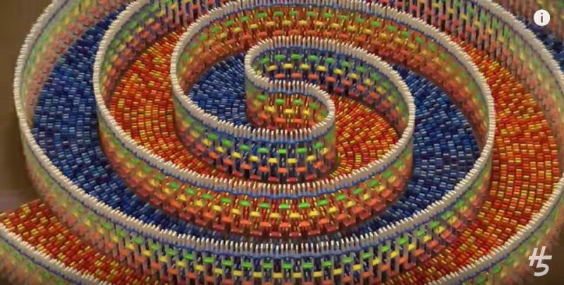 Dominoes Spiral Art
