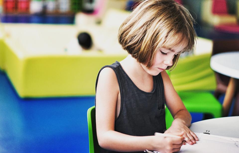 Girl in classroom by pan-xiaozhen