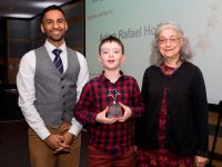 Above and Beyond Awards 2019. Bobby Seagull - Young Person's Resilience Award winner Adam Rafael Holmes - Anna Comino-James