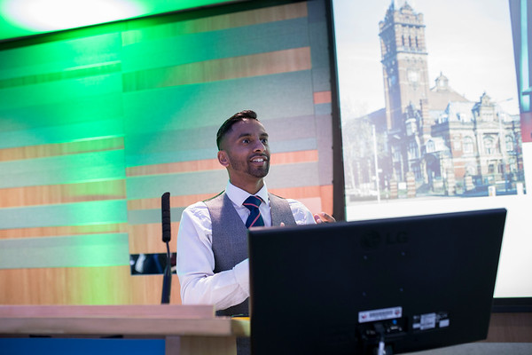 Bobby Seagull presenting atThe Above and Beyond Awards February 11th, 2019. Copyright Sam Carpenter.