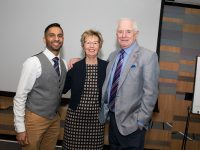 The Above and Beyond Awards February 11th, 2019. Copyright Sam Carpenter. L-R: Bobby Seagull, Julie Taplin, Johnny Ball
