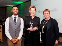 Above and Beyond Awards 2019. Bobby Seagull - Inspirational Leader Award winner Mandi Howells - Denise Yates