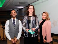Above and Beyond Awards 2019. Bobby Seagull - Inspirational Therapist Award winner, Mariza Ferreira - Rachel Egan