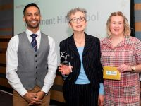 Above and Beyond Awards 2019. Bobby Seagull - Effective Provision in School Award Winner Parliament Hill School collected by Deputy Head Joy Morgan - Gina Wookey