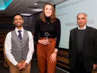 Above and Beyond Awards 2019. Bobby Seagull - Inspirational Young Person Award winner Rebecca Webb - Dhruv Patel