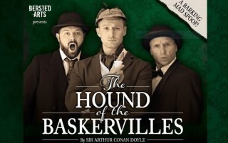 Flyer of The Hound of the Baskervilles spoof play by Berksted Arts