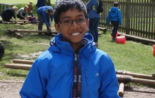 Boy enjoying the outdoor activities at the PPUK Be Curious Weekend 2019