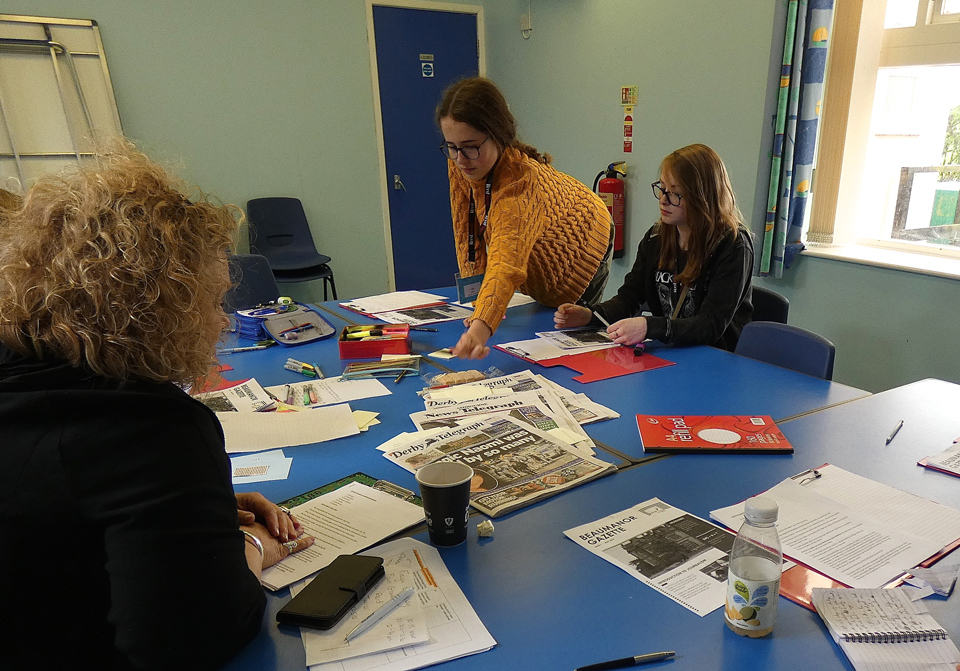 Potential Plus UK members taking part in a journalism workshop