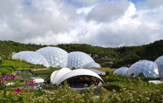 Eden Project view of the Biomes