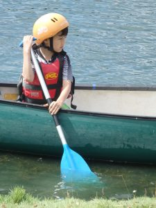 boy canoeing