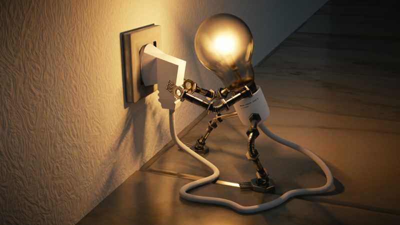Light Bulb Person by Colin Behrens