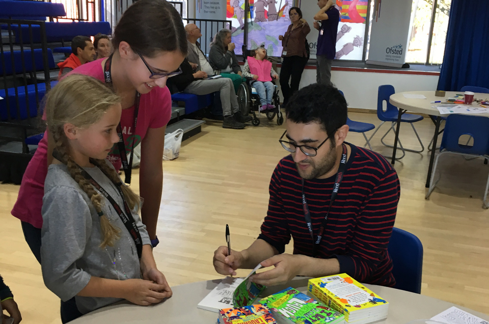 Joshua Seigal signing books at Big Family Weekend 2018