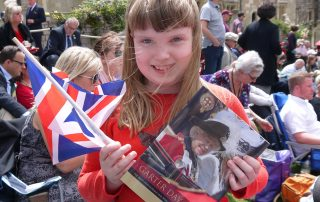 happy girl at Garter Day procession 2019