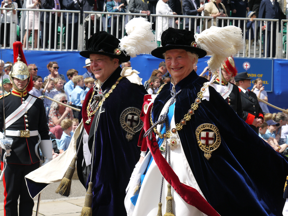 The Marquess of Salisbury and Lady Mary Peters at the Garter Day Ceremony 2019