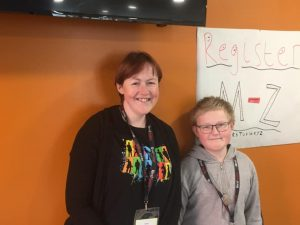 Mother and Son volunteers at Potential Plus UK's BIG Family Weekend