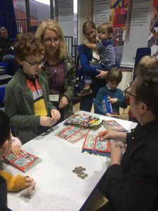 Paul Cookson signing books at Potential Plus UK's BIG Family Weekend, 2019