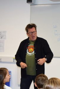 Paul Cookson leading a fun with words session Potential Plus UK's BIG Family Weekend, 2019
