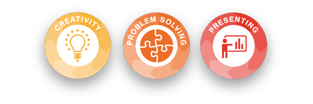 Problem-solving, creativity, presenting skills builder