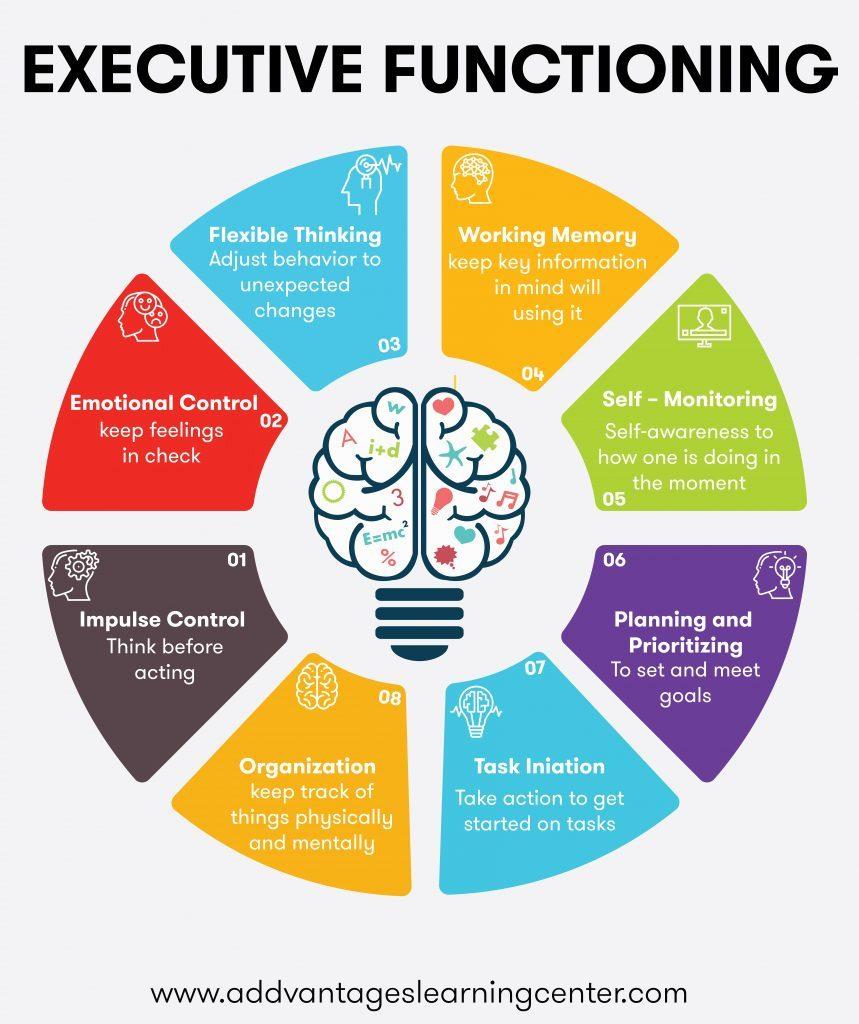 7 executive function skills graphic