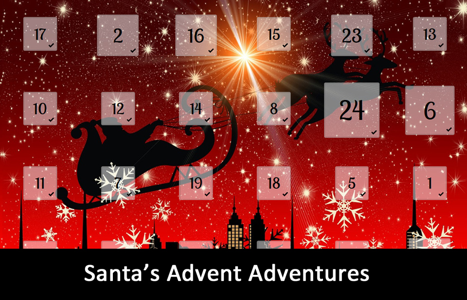 Advent Calendar with Santa's Advent Adventures