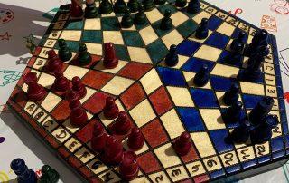 three-player chessboard