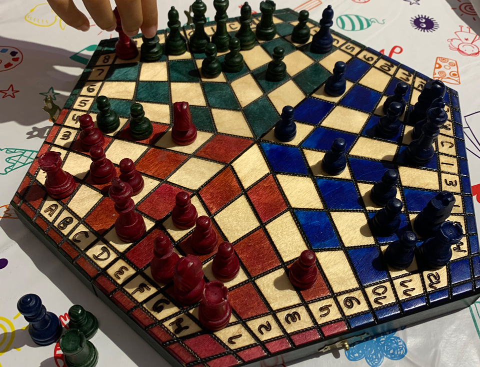 three-player chessboard
