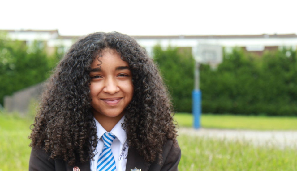 Jada from BBC Television programme, Growing Up Gifted. Photo BBC