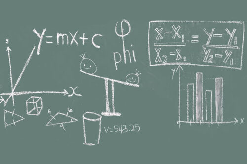 maths on a chalkboard