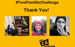 2.6 Challenge thank you with three people taking part in challenges