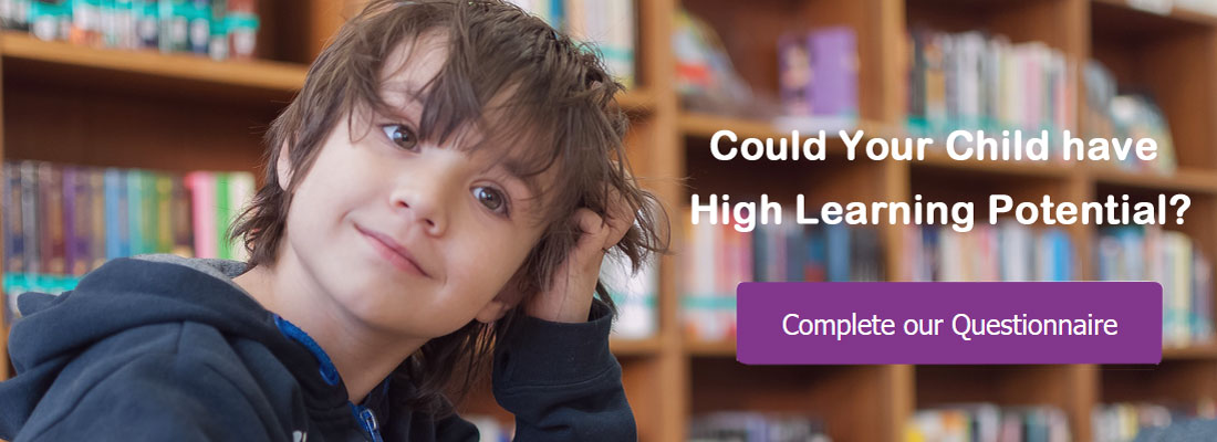 Child scratching head in puzzlement - questionnaire could your child have high learning potential