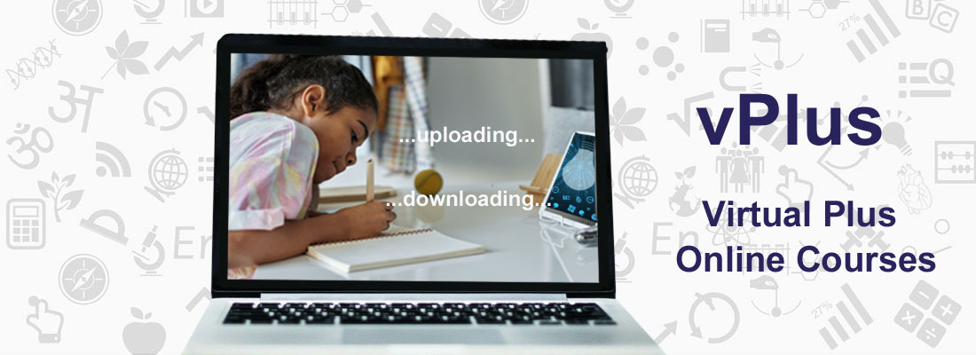 Slider advertising vPlus Virtual Plus Online Courses