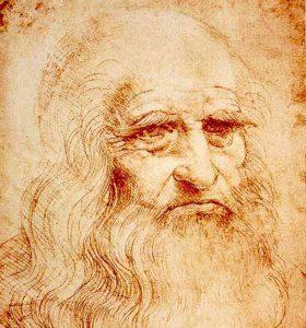Drawing of Leonardo da Vinci