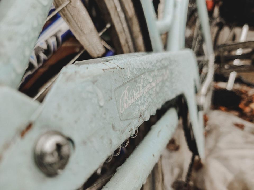 Closeup angle on a bike