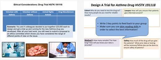 Drug trial data