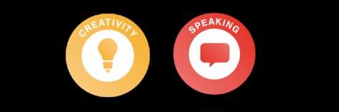 Skills builder logos Creativity and Speaking
