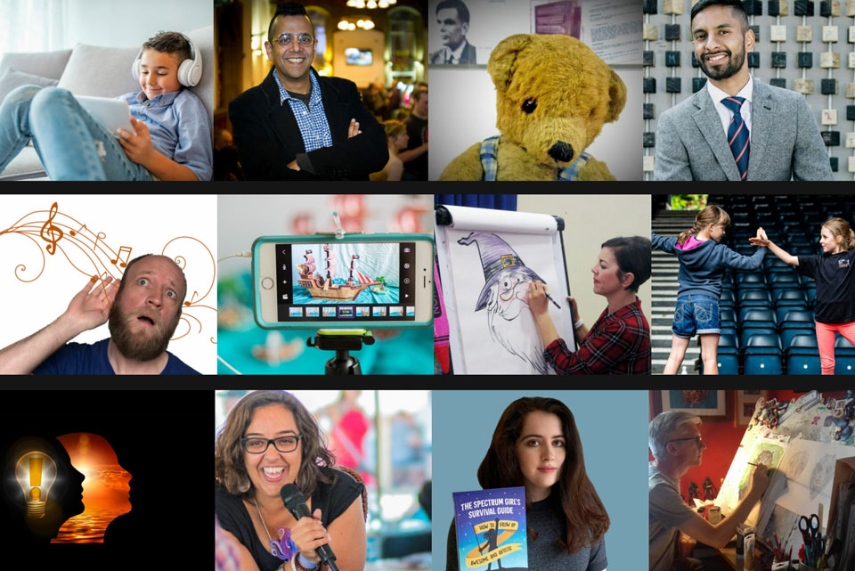 Compilation of presenters taking part in the vPlus Festival 2021