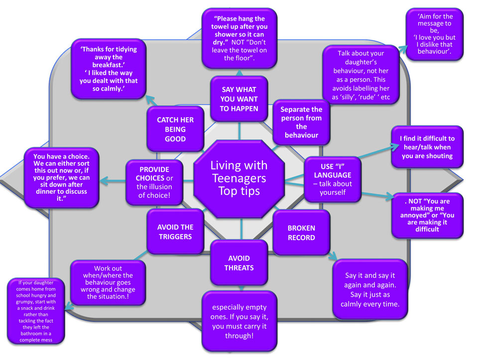 Living with Teenagers Top Tips Graphic